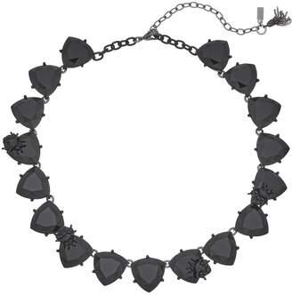 Vera Wang Simply Vera Black Triangle Link Collar Necklace