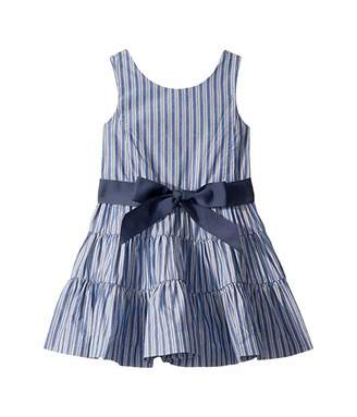 Polo Ralph Lauren Striped Tiered Cotton Dobby Dress (Toddler)