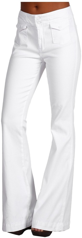 7 For All Mankind - Erin Wide Leg Trouser in Clean White