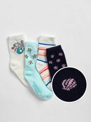 Gap Toddler Mermaid Crew Socks (4-Pack)