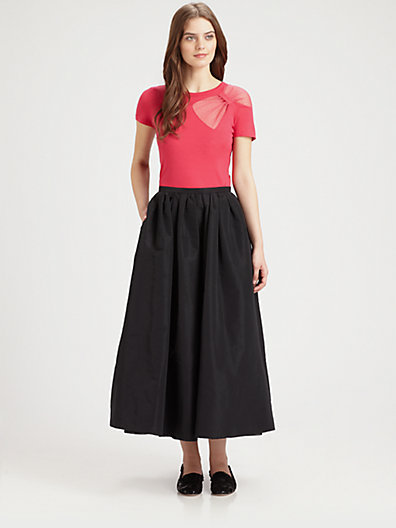 RED Valentino Long Faille Skirt