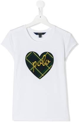 Ralph Lauren Kids TEEN heart embroidered T-shirt