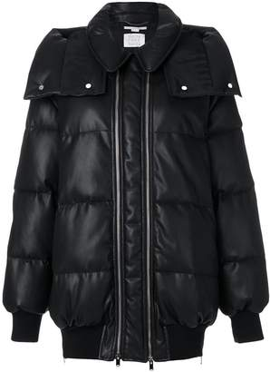 Stella McCartney double zip padded coat