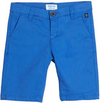 Mayoral Basic Twill Chino Shorts, Size 4-7