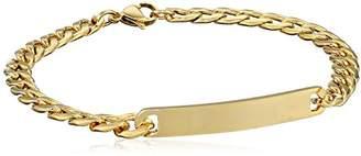 Men's -Tone Stainless Steel 6mm Curb Chain Identification Bracelet