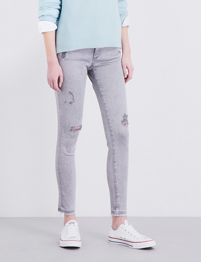 AG JeansAg The Legging Ankle distressed super-skinny low-rise jeans