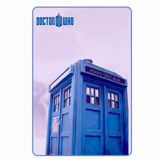 "Posch Sports Large 89"" by 50"" Purple Soft and Warm Doctor Who Tardis Micro Raschel Throw Blanket for Kids and Adults"
