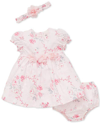Little Me Baby Girls Floral-Print Dress & Headband