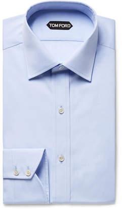 Tom Ford Light-Blue Slim-Fit Cotton-Poplin Shirt - Men - Light blue
