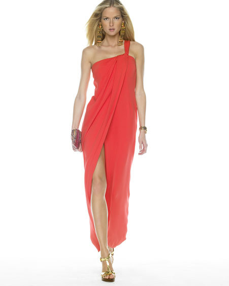 Michael Kors Silk Drape Dress