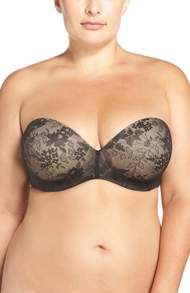 Plus Size Women's Curvy Couture Strapless Underwire Push-Up Bra $65 thestylecure.com