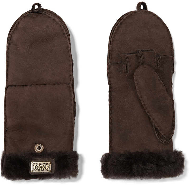 Australia Luxe Collective Australia Luxe Collective Shearling-lined suede gloves