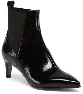 b5e7e81f934c ... TJ Maxx · Made In Italy Kitten Heel Patent Leather Booties