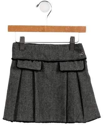 Lili Gaufrette Girls' Pleated Herringbone Skirt