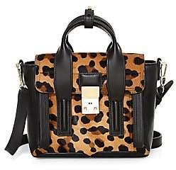 3.1 Phillip Lim Women's Mini Pashli Leopard-Print Calf Hair Leather Satchel