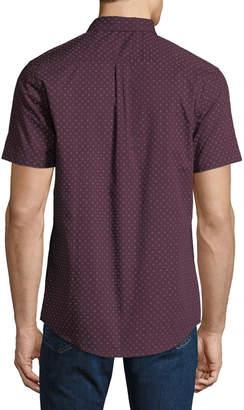 Report Collection Men's Geo Short-Sleeve Sport Shirt