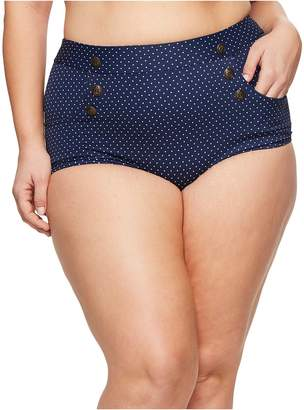 Unique Vintage Plus Size Mrs. Cooper Bottom Women's Swimwear