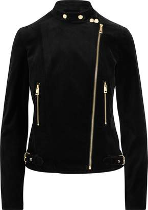 Ralph Lauren Stretch Velvet Moto Jacket