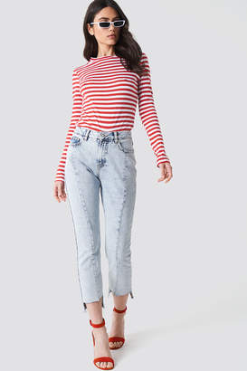 NA-KD Na Kd Front Panel Asymmetrical Hem Denim