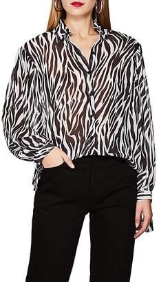 Robert Rodriguez Women's Zebra-Print Georgette Blouse