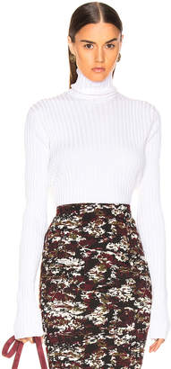 Victoria Beckham Polo Neck Top in Ivory | FWRD