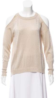 Ramy Brook Metallic Cold-Shoulder Sweater w/ Tags