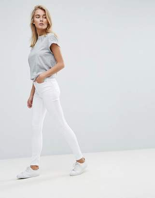 Asos DESIGN Ridley high waist skinny jeans in white