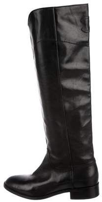 Chanel CC Leather Knee-High Boots
