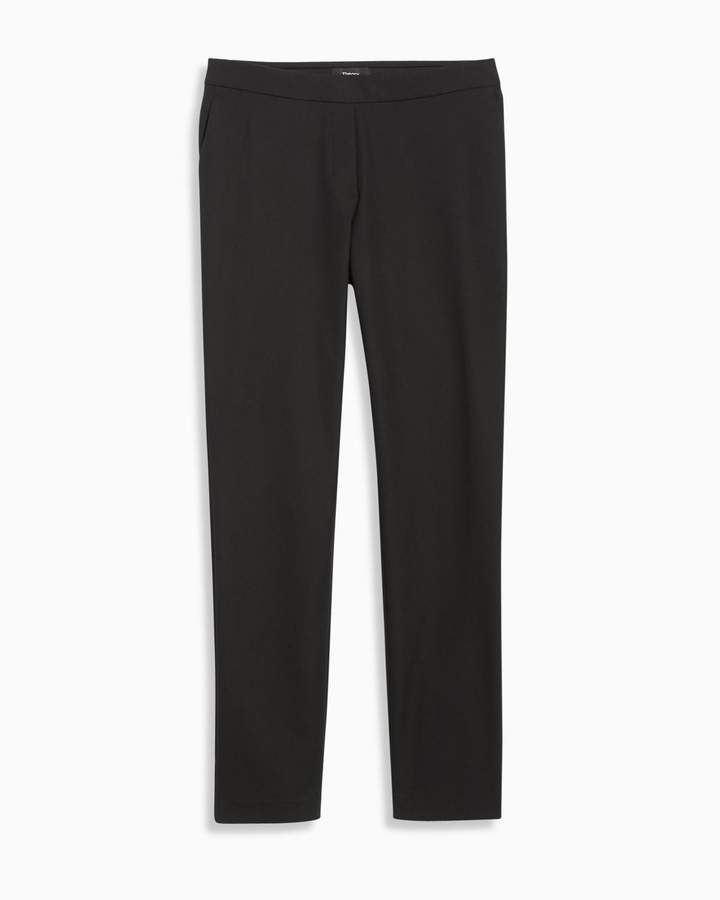 TheoryStretch Cotton Crop Pant