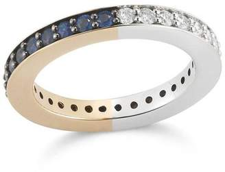 Walters Faith Grant Two Tone 3Mm Diamond Sapphire Band Ring