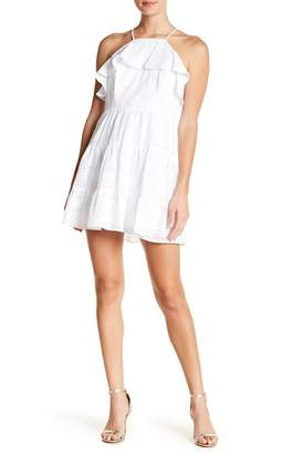 BCBGeneration Halter Ruffle Dress