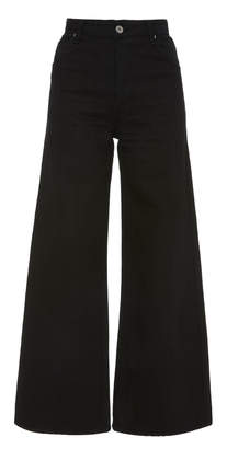 Eve Denim Charlotte High-Rise Denim Culottes