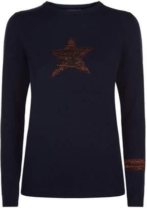 Bella Freud Lurex Star Sweater