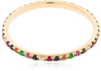 Ef Collection Rainbow Diamond 14kt Gold Eternity Band