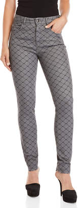 Sonia Rykiel Sonia By Fishnet Print High-Waisted Jeans