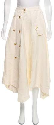 Loewe Linen Midi Skirt