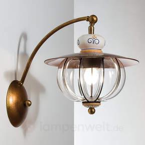 Ausladende Wandlampe Lampara - handgefertigt