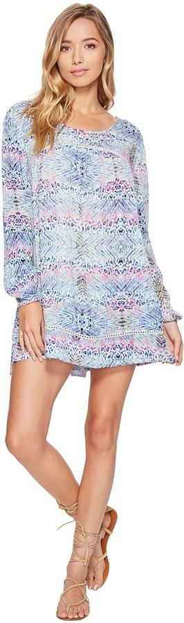 Roxy - Sneak Peak Long Sleeve Cover-Up Women's Dress