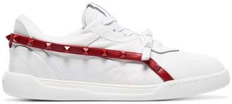 Valentino white Rockstud Armour studded leather sneakers