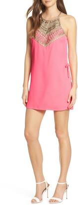 Lilly Pulitzer Pearl Lace Trim Romper Dress