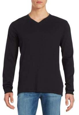 Calvin Klein Ribbed Cotton V-Neck Shirt