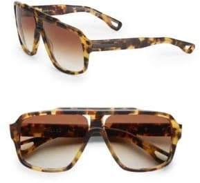 Dita Eyewear Carbine Tortoise Aviator Sunglasses