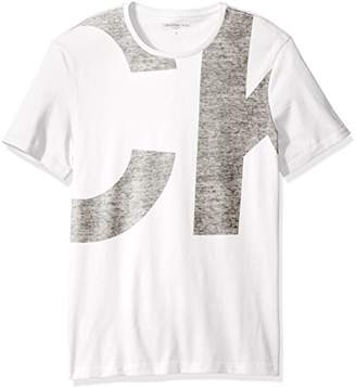 Calvin Klein Jeans Men's Short Sleeve Textured Logo Crew Neck T-Shirt