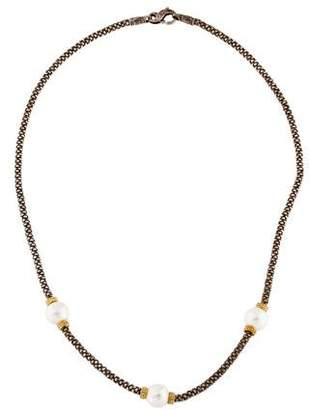 Lagos Caviar Two-Tone Pearl Necklace