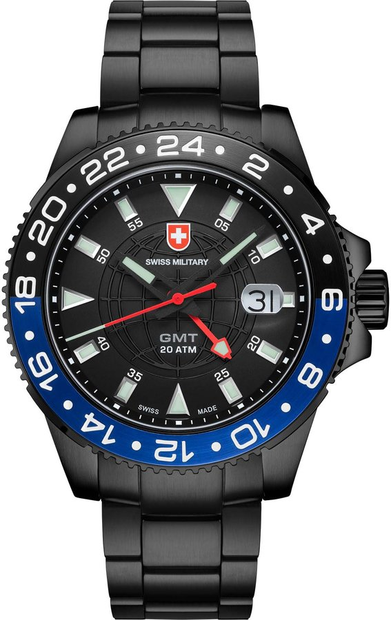 Swiss Military Men's Army 42mm Ip Steel Bracelet Swiss Quartz Watch 2776