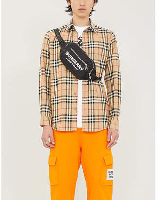 Burberry Chambers checked regular-fit cotton-twill shirt