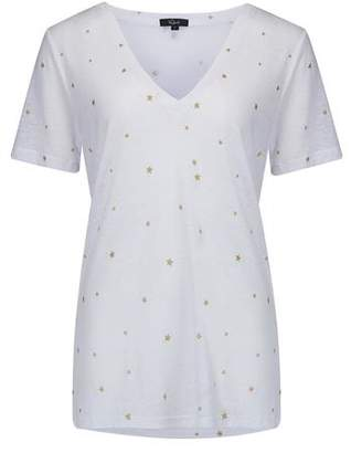 Rails Cara T-Shirt in White and Gold Foil Stars