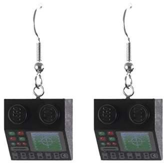 Lego Schmuckzeug Women's Black Computer Earrings