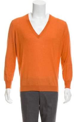Bottega Veneta Cashmere Blend V-Neck Sweater