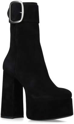 Saint Laurent Suede Billy Platform Boots 85
